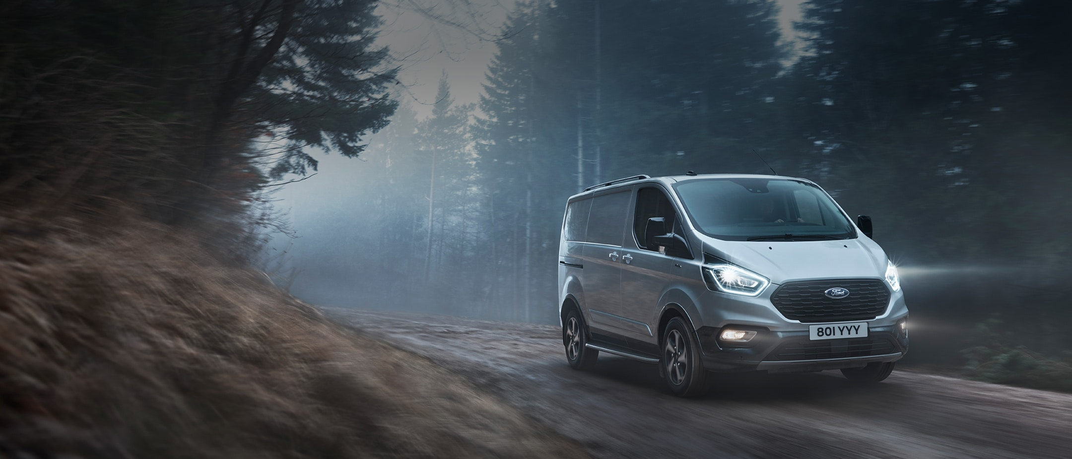 Ford Transit Custom Active in a forest