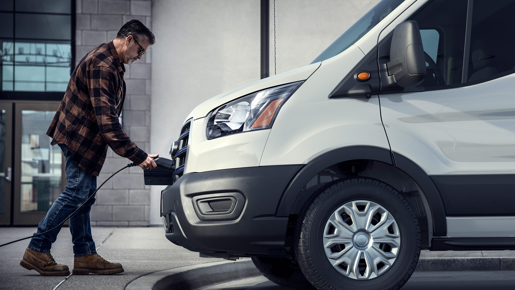 All New Ford E-Transit charging in public